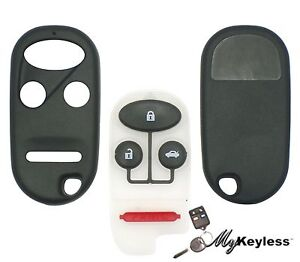 NEW-HONDA-REPLACEMENT-KEYLESS-ENTRY-REMOTE-KEY-FOB-CASE-SHELL-AND-BUTTON-PAD
