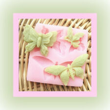 Butterfly Shape Soft Silicone Fondant Decorating Soap Polymer Clay Cake Mold 3D