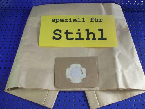 12 Staubsaugerbeutel geeignet für  Stihl SE 121 mehrlagige Papiertüte