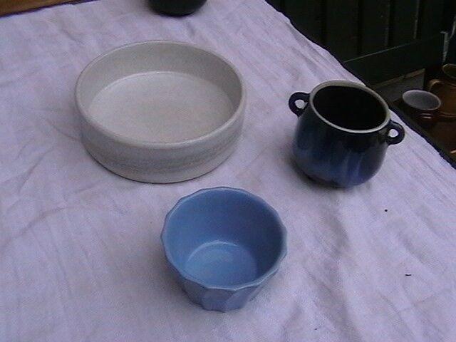 Keramik, Ældre Fad + 1 skål.., Strehia Keramik