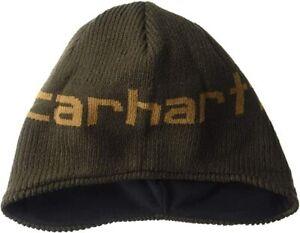 NEW-w-Tags-Carhartt-Fleece-Lined-Boys-Acrylic-Winter-Beanie-Hat-FREE-Shipping