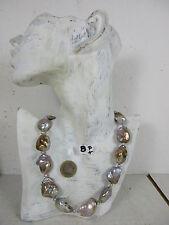 kostbare Perlenkette echte bis 3 cm große Keshi Perlen höchste Qualität  51cm