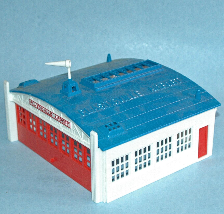 Vintage Boxed PLASTICVILLE U.S.A. AIRPORT HANGAR KIT Bachmann c1950 Complete