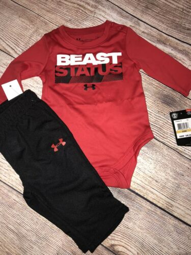 Under Armour 0-3 3-6 6-9 Months Beast Status Baby Outfit Set NEW