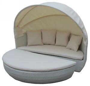 Bahne-Moon-Bed-inkl-Kissen-creme-Polyrattan-Sonneninsel-Loungebett-Gartenmoebel