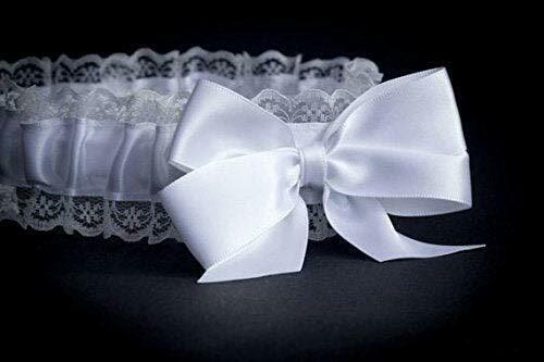 Bride To Be - Garter Hen Party - Night White Lace - Wedding Bridal Do White Pink