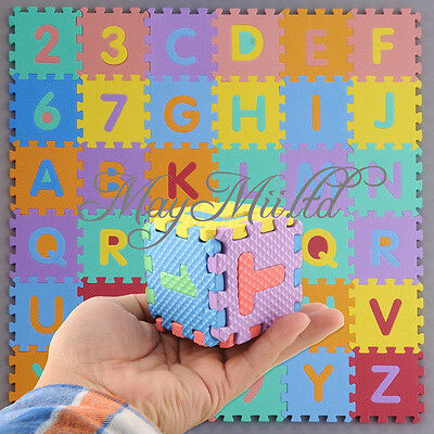 Interlocking EVA Foam Alphabet Letter Numbers Soft Play Mat Educational Puzzle