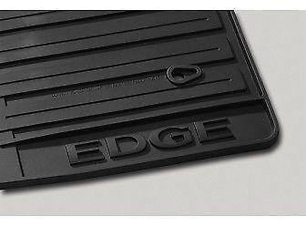 Oem Factory   Ford Edge All Weather Vinyl Rubber Floor Mats Pc Ebony Black Ebay