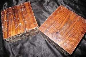 Details about CHECHEN TURNING BLANKS 6x6x3- 2PCS W/FREE SHIPPING-EXOTIC WOOD