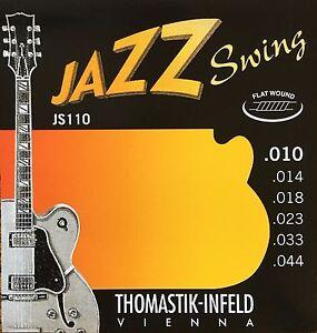 thomastik infeld js110 jazz swing electric guitar strings 10 44 flatwound ebay. Black Bedroom Furniture Sets. Home Design Ideas