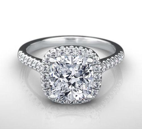 2.40 Ct Diamond Engagement Stylish Ring 14K White gold Beautiful Rings Size 6