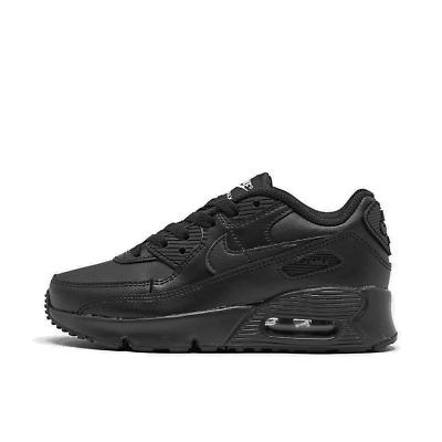 boys' little kids' nike air max 90 casual shoes black