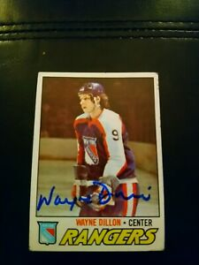 1977-78-Topps-Wayne-Dillon-166-Auto-Autographed-Signed-Card