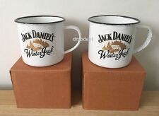 2 X Genuine Limited Edition JACK DANIELS Winter Jack Tin Mug Brand New in Box,