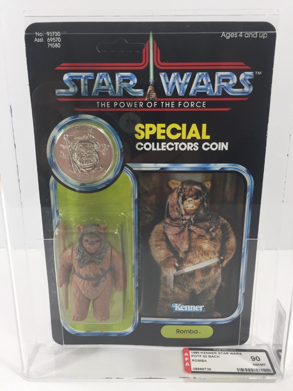 Star Wars 1985 Kenner POTF ROMBA 92-B AFA 90 unpunched
