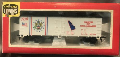 "Life like HO Scale /""State Of Delaware"" 1776 RP 104 Reefer NIB F5"