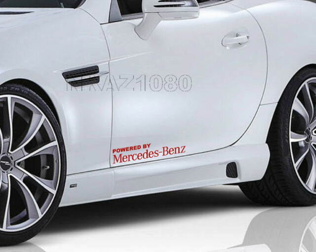 Powered by Mercedes Benz Vinyl Decal Sport Racing sticker emblem logo RED