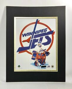 Winnipeg Jets Hockey 1995 Goalie MATTED 11X14 Lithograph by Kelly Russell