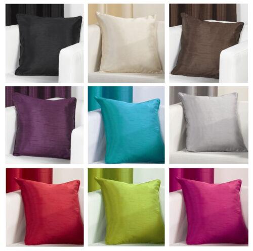 Plain Faux Silk Slubbed Cushion Cover 18x18 inch 45x45cm aprox