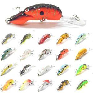 Crawfish-Crankbait-Fishing-Lures-Deep-Diver-Tight-Wobble-Slow-Floating-C569