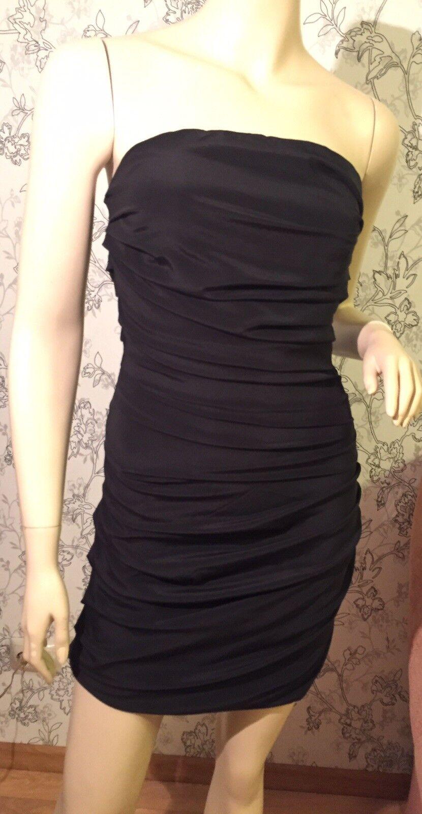 MAJE schwarz silk cocktail dress sz 38 Mint condition