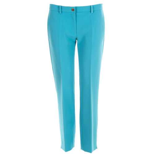 VERSACE COLLECTION Trousers Cropped Blue Slim Leg RRP £220 BW
