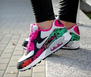 Details about Nike Air Max 90 Print (GS) 704953 001