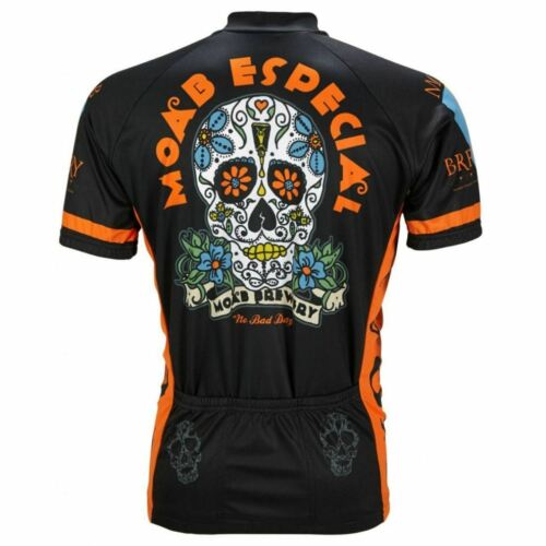 Moab Brewery Especial  beer  Men/'s Full Zip Cycling Jersey