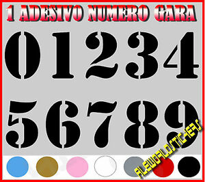 ADESIVO-12-cm-NUMERO-gara-CORSA-MOTO-GP-CROSS-Stickers-VINILE-RACING-TUNING-AUTO