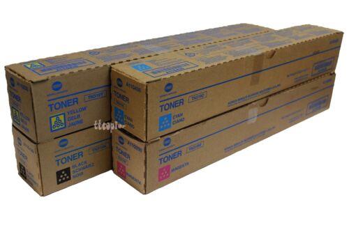TN319 CMYK Lot of 4 Genuine Konica Minolta TN319 set Toner for Bizhub C360