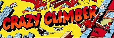 "CRAZY CLIMBER ARCADE MARQUEE  6/"" x 18/"" Aluminum Sign"