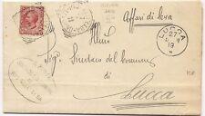 P2891   Toscana, tondo riquadrato RIO nell' ELBA (Livorno) 1919