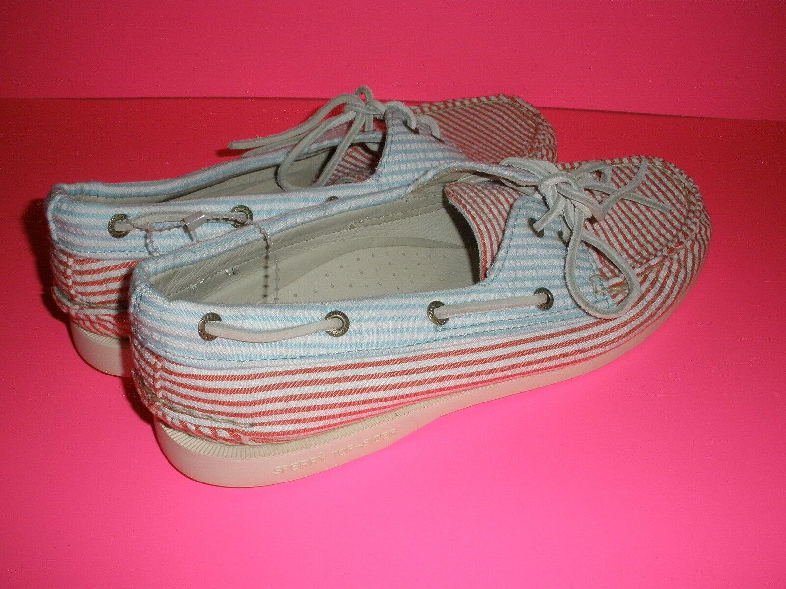 Sperry Top-Sider para J. Crew Totalmente Para Mujer Zapatos Náuticos Seersucker Totalmente Crew Nuevo 551457
