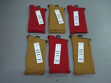 NWT Women/'s Hue Metallic Roll Top Socks One Size Deep Gold//Apple Red 6 Pair #39J