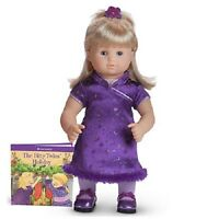 American Girl Bitty Twins Pretty In Plum Dress Holiday Outfit Doll Not Included