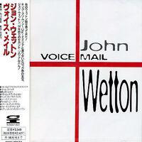 John Wetton - Voice Mail (CD, 1994, Pony Canyon, Japan w/OBI) RARE