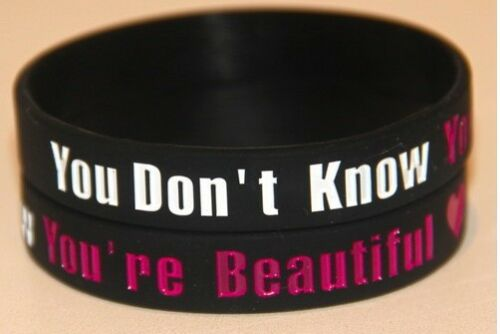 ONE Direction 1D You're BEAUTIFUL Nero Bracciale Braccialetto * lo stesso giorno POST