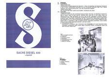 Betriebsanleitung Bedienungsanleitung für SACHS DIESEL 600 L luftgekühlt