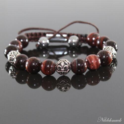 Hommes red tiger oeil shamballa bracelet bracelets avec antique Beads pour hommes