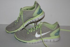 la meilleure attitude 5fb96 d3c40 Details about Nike Free Fit 2 Running Shoes, #487789-005, Gray/Yell/Blue,  Women's US Size 8