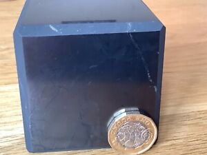 Large Shungite Cube 6cm Protection from EMF & Geopathic Stress. 5G.Polished 620g