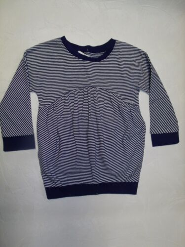 NEW GIRLS TOP PINK STRIPE BLUE STRIPE or FLORAL PRINT SIZES 18 24 MO or 5T