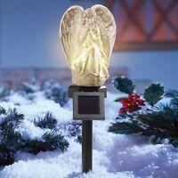Solar Powered Lighted Praying Angel Cemetery Memorial Garden Stake