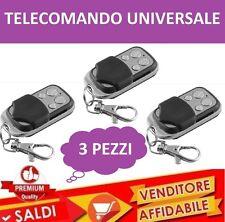 3 TELECOMANDO PER CANCELLO AUTOMATICO UNIVERSALE A 433,92 MHZ FAAC BFT NICE, ETC