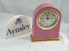 "Wedgwood/Aynsley Large Dome Clock ""Senator"" Gorgeous Colour & 22-carat Gold Trim"