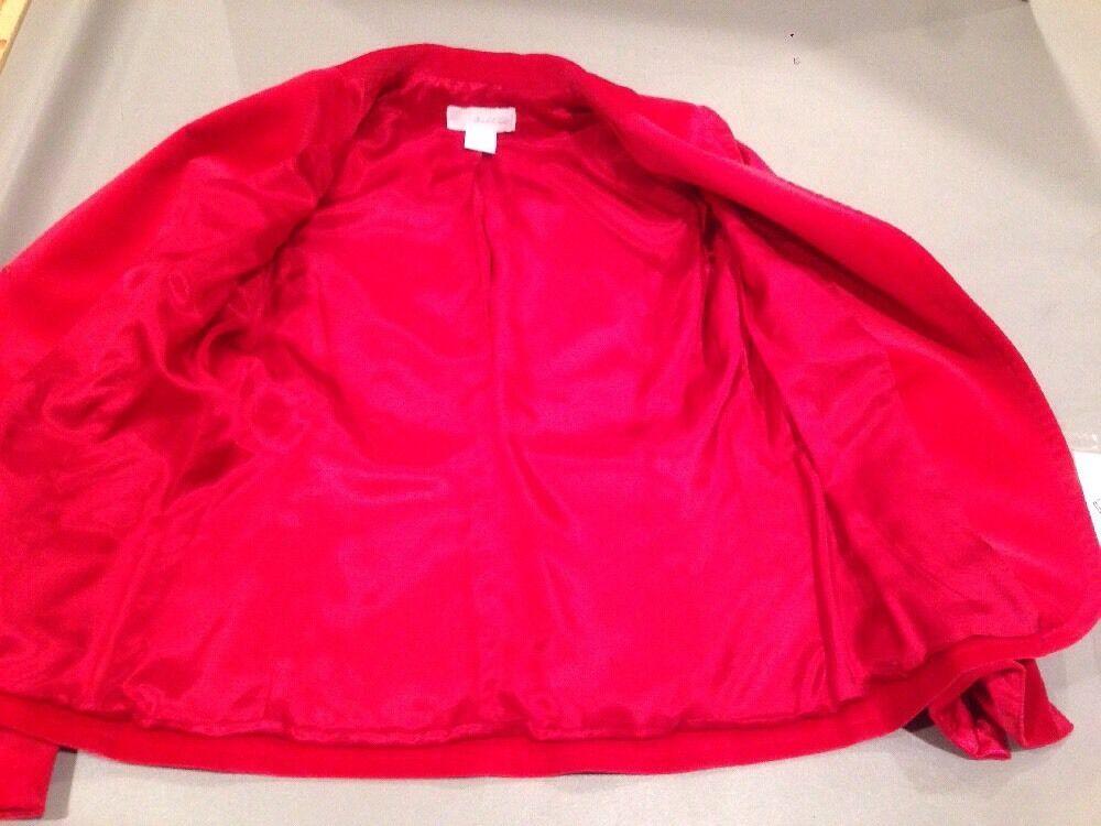 Women's 4 Marshall Field's Red Velvet Blazer - image 9