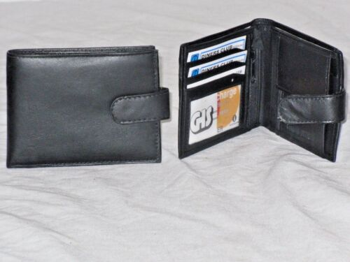 A Soft Quality Mens Leather Wallet With 5 Card Slits and Clear Window.