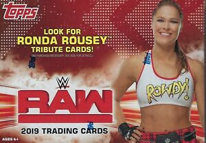 2019-Topps-WWE-RAW-New-Sealed-Wrestling-Trading-Cards-71c-Retail-BLASTER-Box-FS