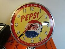 Vintage Pepsi Clock Light Up * Pepsi Cola * The Light Refreshment * Rare