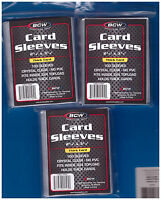 300 Bcw Baseball Football Basketball Hockey Trading Card Plastic Sleeves